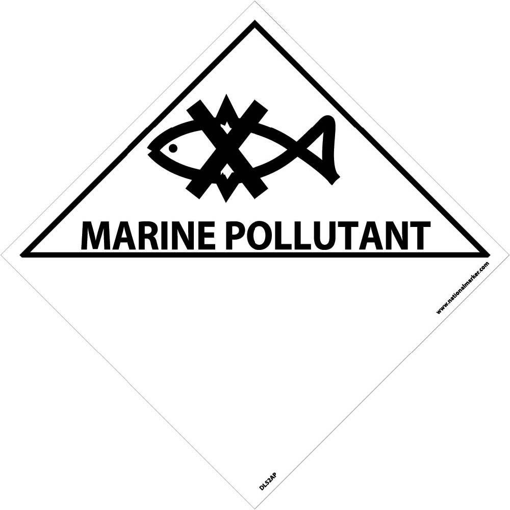 DL52AP National Marker Marine Pollutant Label (Pack of 25)