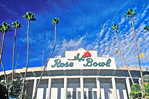(Posterazzi Front Entrance to The Rose Bowl Pasadena California Poster Print by Panoramic Images (36 x 24) Varies)