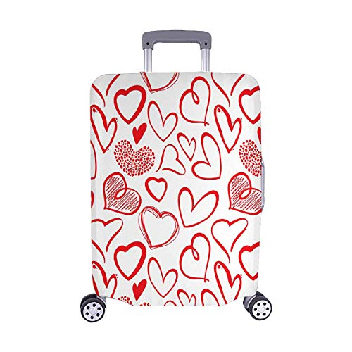 InterestPrint Vintage Valentine Love Heart Travel Luggage Protector Baggage Suitcase Cover Fits 22''-25'' Luggage by InterestPrint (Image #5)