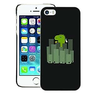 A-type Arte & diseño plástico duro Fundas Cover Cubre Hard Case Cover para iPhone 5 / 5S (Japan City Minimalist Black Cartoon)