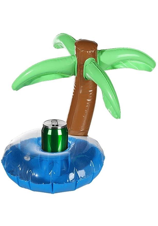 Soporte hinchable para las latas de bebidas isla con palmera ...
