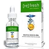 Salicylic Acid Peel 2% for Acne Treatment - Daily Gentle Treatment for Acne Spots, Organic, Naturally Derived from Willow Bark 1 oz / 30ml by Refresh Skin Therapy