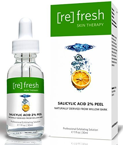 Fatigue Treatment (Salicylic Acid 2% Daily Organic Peel Extracted From Willow Bark - With Beta-Hydroxy Acid (BHA) To Fight Acne & Scars, Aging Skin, Wrinkles & Skin Fatigue - A Perfect Home Treatment Peel by Refresh Skin Therapy)