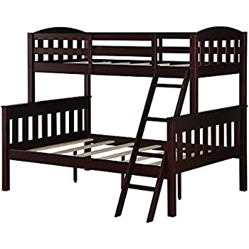 Dorel Living Airlie Twin Over Full Bunk Bed Espresso