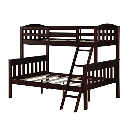 wooden bunkbeds twin over full - 1