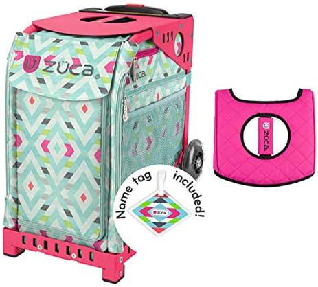 Z?CA INC Zuca スポーツバッグ シェブロン ギフト用 ブラック/ピンク シートカバー(ピンクフレーム)
