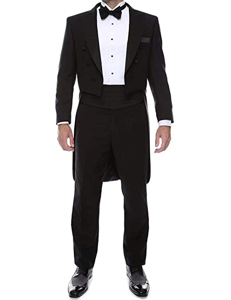 Amazon.com: RONGKIM - Traje para hombre, color negro, 2 ...