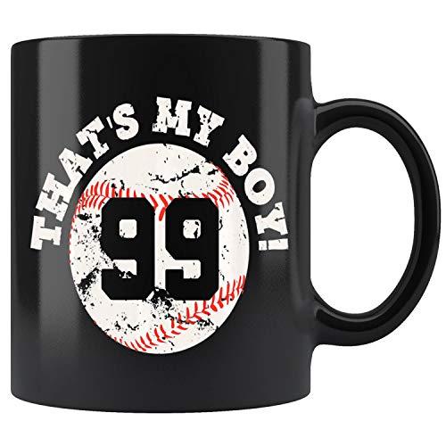 Thats My Boy #99 Baseball Player Mom or Dad Gift Mug Coffee Mug 11oz Gift Tea Cups 11oz