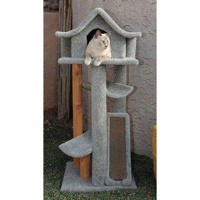 46″ Large Pagodas Cat Tree Color: Gray, My Pet Supplies