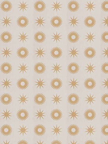 (Gold Beige Metallic Print Pattern Medallion Contemporary Modern Prints Prints converted Upholstery Fabric by the yard )