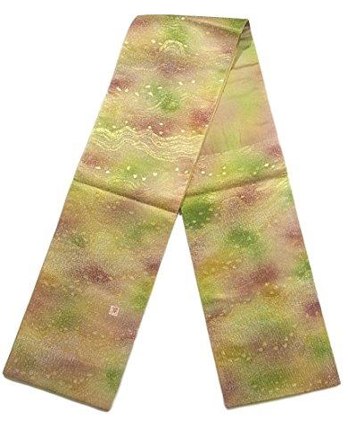 メダルラック平和的リサイクル 袋帯 流水に桜 銀通し 作家物 正絹 六通