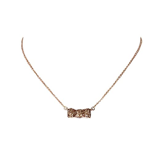 Amazon kate spade moon river glitter bow pendant necklace rose kate spade moon river glitter bow pendant necklace rose golden aloadofball Images