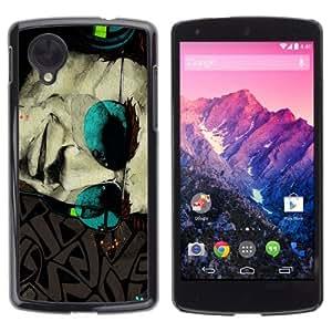 YOYOSHOP [Cool Sunglasses tattoo Art] LG Google Nexus 5 Case
