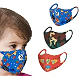 3 PCS Kids Dust Face Covering Breathable Reusable for Outdoor Sport Half Face Earloop Cotton Face Health Protections