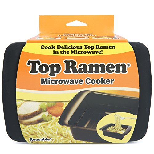 Top Ramen Rapid Cooker - Microwave Ramen in 3 Minutes - BPA Free and Dishwasher Safe - Black