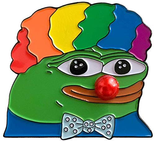 Pepe Honkler Clown World 4Chan Meme Enamel Pin Honk (Clown Lapel Pin)