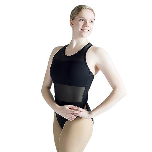 cb87c33ddb5f Amazon.com  HDW DANCE Women s Mesh Halter Ballet Leotard Cotton ...