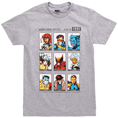Mad Engine X-Men Yearbook of 1991 Adult T-Shirt - Heather Grey ()