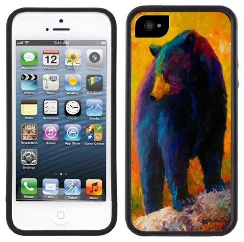 Schwarzbär | Handgefertigt | iPhone 5 5s | Schwarze Hülle