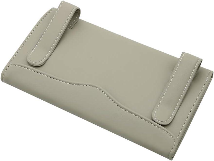 Beige caja de pa/ñuelos piel sint/ética para coche servilleta de papel 23 x 13 cm visera de sol Kuizhiren1 caja de almacenamiento para pa/ñuelos de papel beige