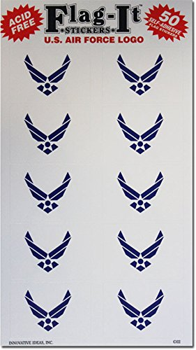 Air Force - Military Stickers (50 Pack) by Innovative Ideas (Image #1)