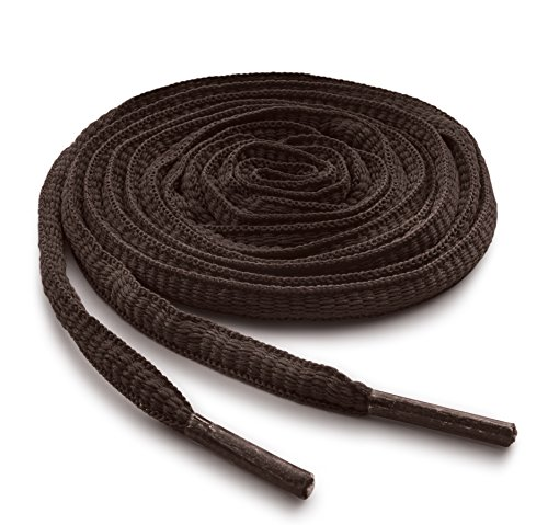 OrthoStep Oval Athletic Brown 40 inch Shoelaces 2 Pair Pack (Brown Round A)