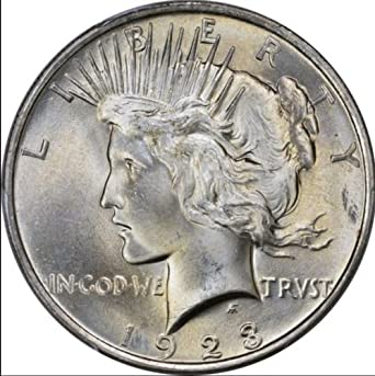 1923 P Silver Peace Dollar Uncirculated US Mint