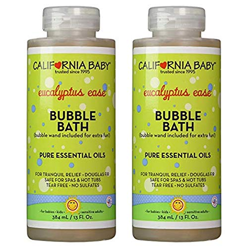 Cold & Flu Bubble Bath - California Baby Bubble Bath Aromatherapy, 13 oz. Pack of 2 (Eucalyptus ease (for tranquil relief))