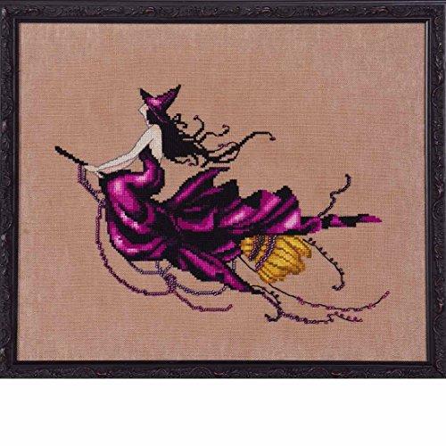(Mirabilia Eva AIDA Kit Beaded Counted Cross Stitch by Nora Corbett Designs NC224 Bewitching Pixies (Bundle: Chart, Fabric, Beads))