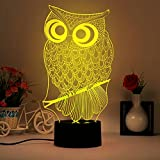 Owl 3D Illusion Lamp, LED Table Desk Night Light, 7 Colors Changing Nightlights, Wiscky Touch Control Rooms Bedrooms Decorative Lighting, Perfect Gifts for Kids, Teens, Adults, Girls, Boys, Teens, Nurse