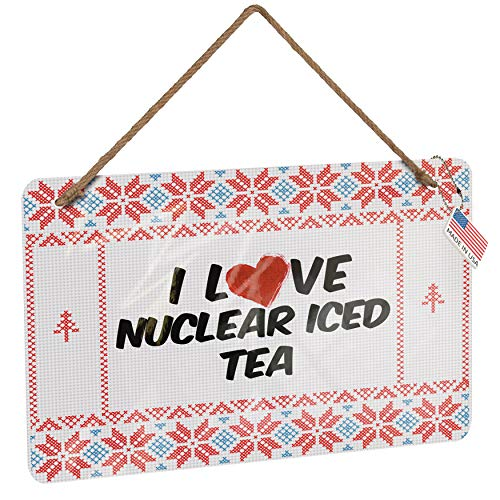 NEONBLOND Metal Sign I Love Nuclear Iced Tea Cocktail Vintage Christmas Decoration