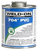 Weldon 12130 704 Low VOC PVC Solvent Cement, 1/2 pt Capacity, Gray
