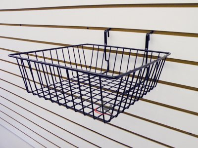 RK-BSK13B Slatwall Accessories basket /6 units (Unit Slatwall)