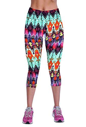 Athletic Capri Leggings Shorts Stretchy Tights Pants For Women Girls