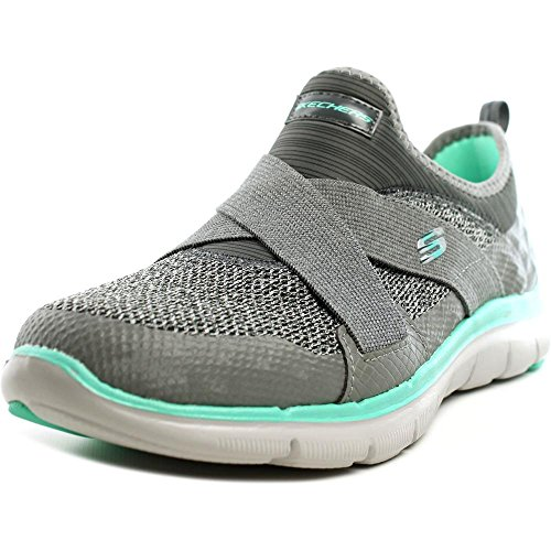 Skechers Sport Frauen Flex Appeal 2.0 New Image Fashion Sneaker Grau / Türkis