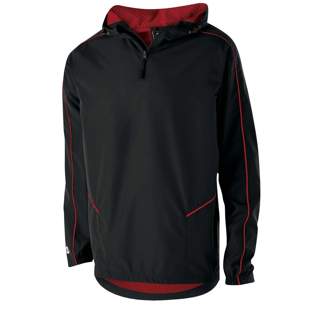 Holloway Wizard Adult Pullover (X-Large, Black/Scarlet) by Holloway