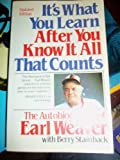 It's What You Learn after You Know It All That Counts, Earl Weaver and Berry Stainback, 0671472399