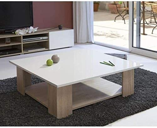 Symbiosis 2086a3419l00 Table Basse Bois Chene Naturel Plateau
