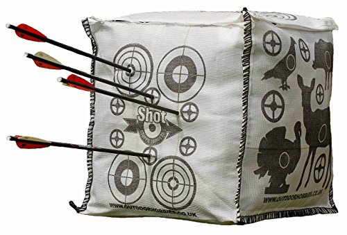 Archery Target Shot Stoppa Cube FILL YOURSELF Crossbow Target Will Stop Arrows & Crossbow Bolts at 10ft 2 Finger Removal