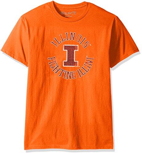 (Original Retro Brand NCAA Illinois Illini Men's Victory Vintage Tee, Large, Orange)