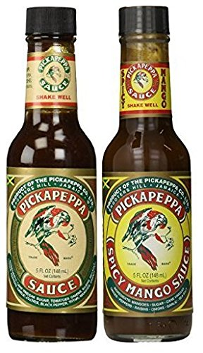 Pickapeppa Sauce Variety 2 Pack (1) Jamaican Original (1) Spicy Mango - 5 oz (Pack of ()