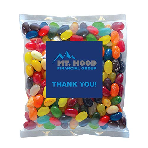 Candy Gift Pack-Jelly Bellys with CUSTOMIZED in Personalized Small Label Pack-BULK Quantities of 250, 500, 1000, 2500…