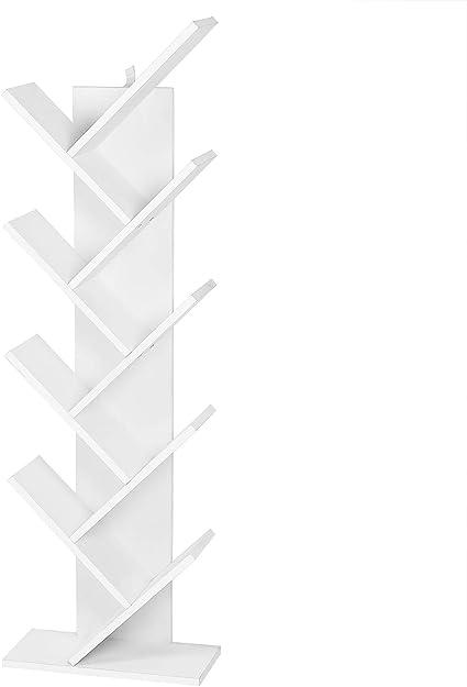 EUGAD Estantería para Libros Librería de Árbol Estante de Oficina Estante de Almacenamiento Estante de Soporte Estante de CD DVD con 8 Niveles, ...