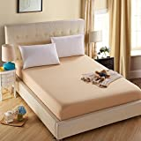 ZYZSTYDW Bed-Cover Mattress Cover,Fade Resistant Solid Color Hotel Quality Fabric-A 150x200x30cm(59x79x12inch)