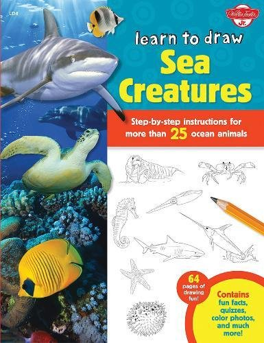learn to draw sea creatures - 1