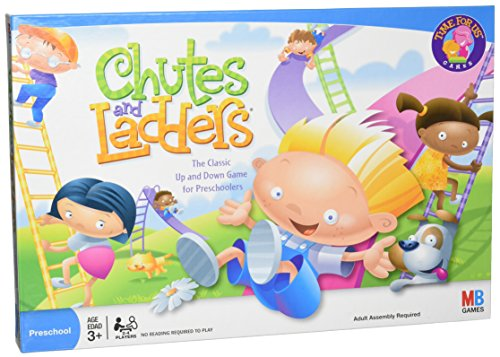 Chutes and Ladders Board Game for 2 to 4 Players Kids Ages 3 and Up (Amazon Exclusive) -
