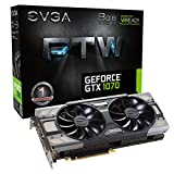 EVGA GeForce GTX 1070 FTW GAMING ACX 3.0, 8GB GDDR5, RGB LED, 10CM FAN, 10 Power Phases, Double BIOS, DX12 OSD Support (PXOC) Graphics Card 08G-P4-6276-KR (Renewed)