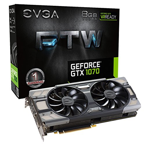 - EVGA GeForce GTX 1070 FTW GAMING ACX 3.0, 8GB GDDR5, RGB LED, 10CM FAN, 10 Power Phases, Double BIOS, DX12 OSD Support (PXOC) Graphics Card 08G-P4-6276-KR (Renewed)