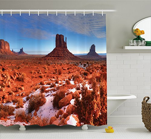 House Decor Shower Curtain By Ambesonne  Long Exposure Photo Of Grand Canyon American Landmark Tranquil Native Lands  Fabric Bathroom Decor Set With Hooks  84 Inches Extra Long  Orange Blue