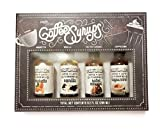 Coffee Syrups - Coffee + Latte Flavoring - Amaretto, Vanilla, Salted Caramel, Cappuccino - 2.3 Ounces Each